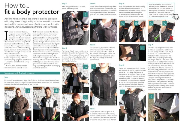 Champion-Fitting your body protector EQLife